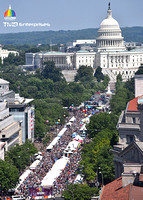Aerial View of the Capital Pride Crowd